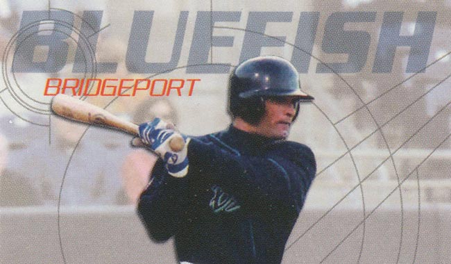 Oreste Marrero Playing for the Bridgeport Bluefish, Atlantic Leaque
