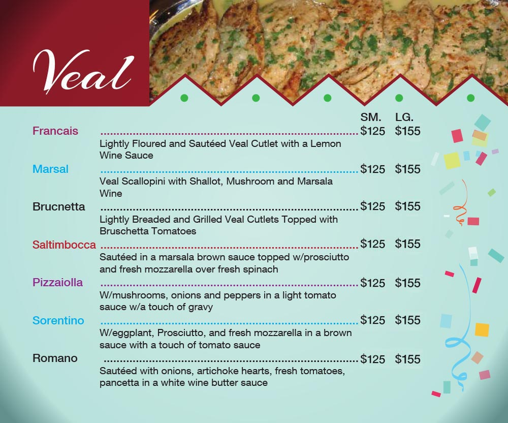Catering Menu in Queens Page 1