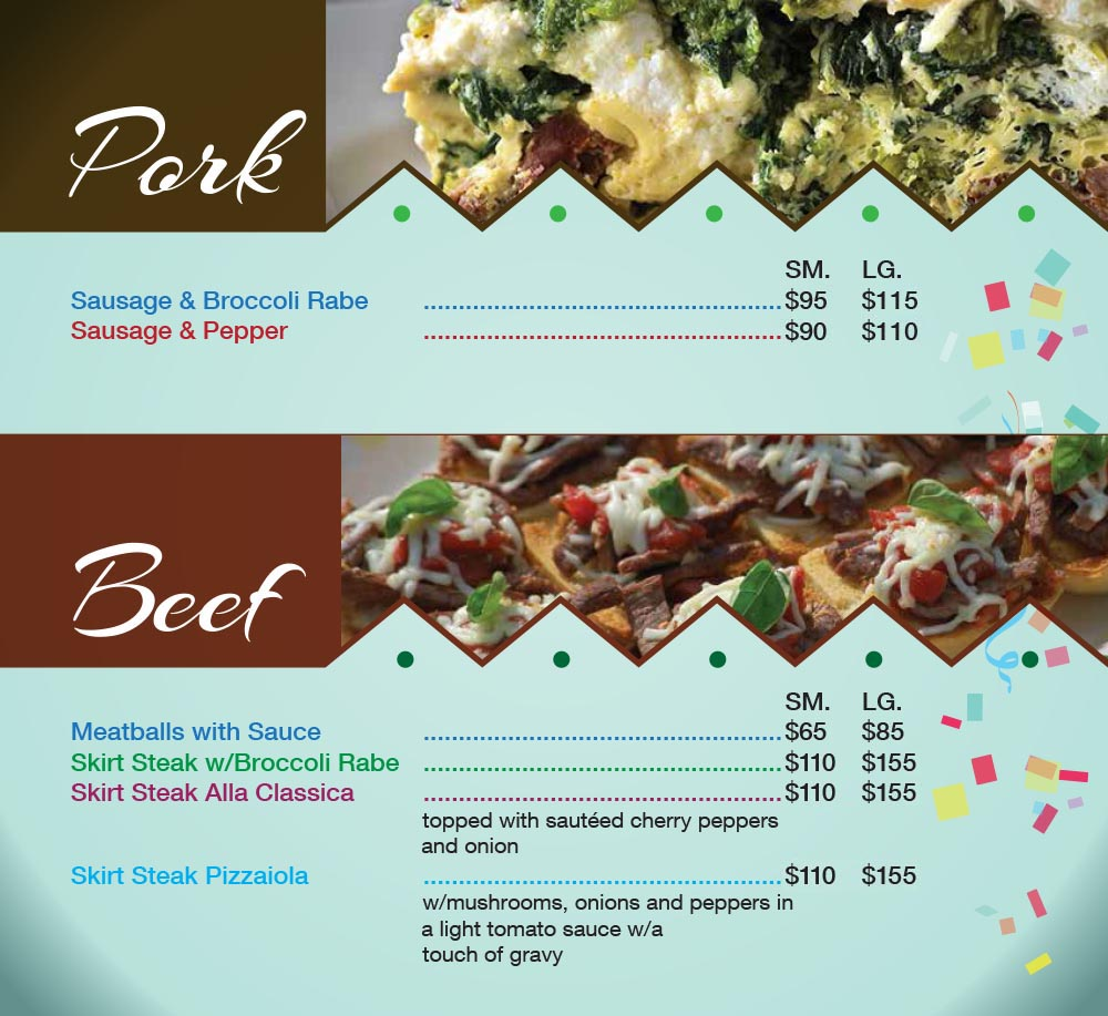 Catering Menu in Queens Page 2