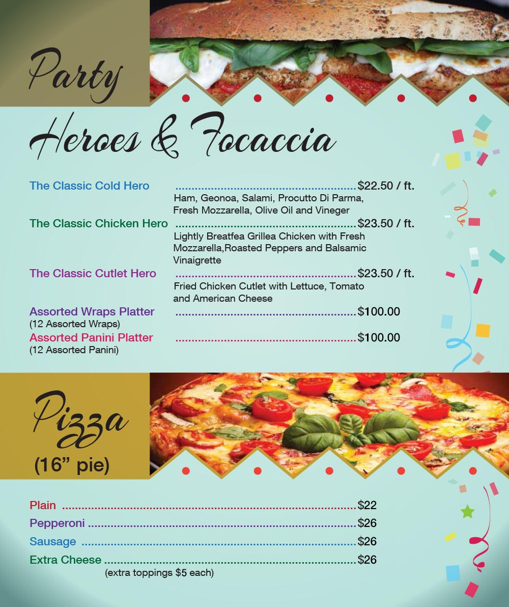 Catering Menu in Queens Page 3