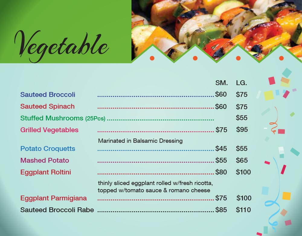 Catering Menu in Queens Page 6