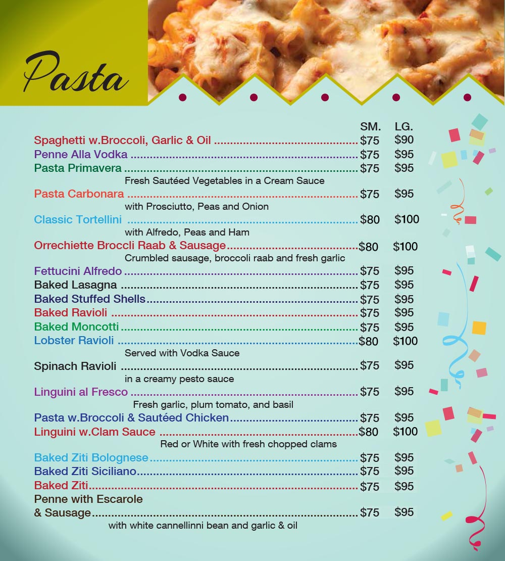 Catering Menu in Queens Page 8