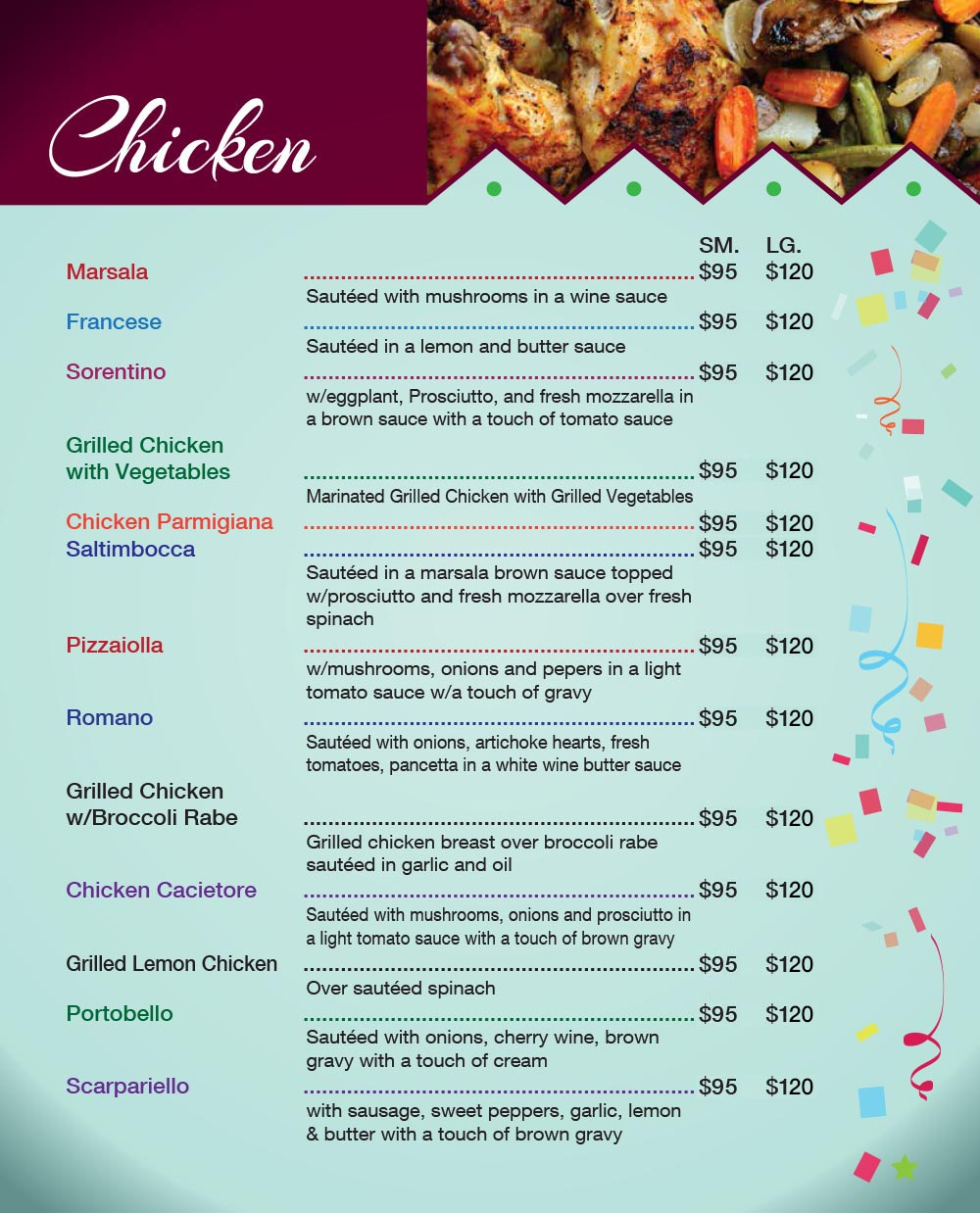 Catering Menu in Queens Page 9
